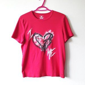 JNY red sport graphic cotton painted t-shirt